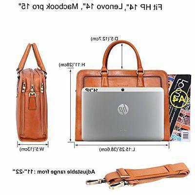 Banuce Grains Leather Messenger Bag 14