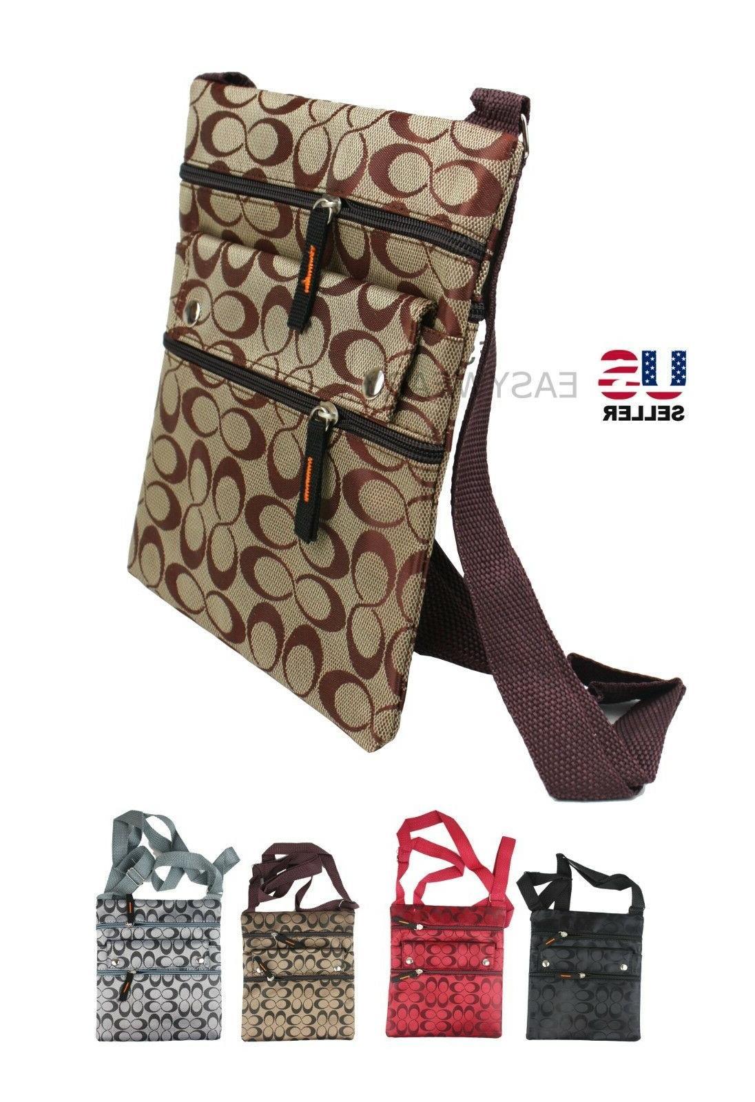 womens ladies thin flat crossbody purse bag