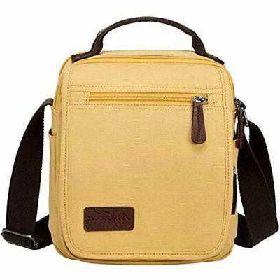 womens small vintage messenger bag canvas shoulder