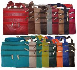Ladies Genuine Leather Cross Body Bag Satchel Messenger Bag