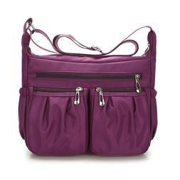 Lady Casual Purses Shoulder Handbag Women Nylon Crossbody Ba