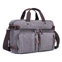 RYOMI Laptop Backpack Convertible Messenger Bag Laptop Case