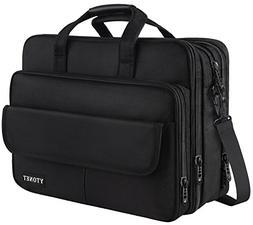 Mens Briefcase, 17 inch Laptop Bag, Expandable Large Capacit