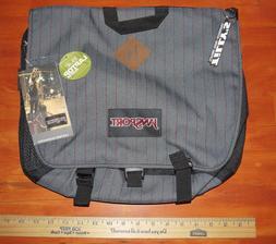 Jansport Laptop Bag Crossbody Messenger Style GRAY + RED NEW