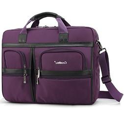 Laptop Briefcase, CoolBell 17.3 Inch Protective Messenger Ba