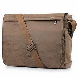 Laptop Messenger Bag 15.6 Inch PU Leather Crossbody Bag S-ZO