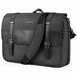 KROSER Laptop Messenger Bag 15.6 Inch Water-Repellent Briefc