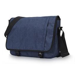 Hynes Eagle Laptop Messenger Bag for 15 inch, Dark Blue