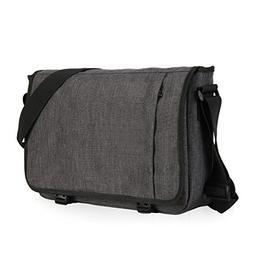 Hynes Eagle Laptop Messenger Bag for 15 inch, Dark Gray