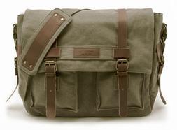 laptop messenger bag drab