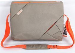 Bipra 15.6 Inch Laptop Messenger Bag Grey/orange Design Suit