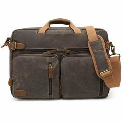 CoolBELL Laptop Shoulder Messenger Bag Vintage Look 15.6 Con
