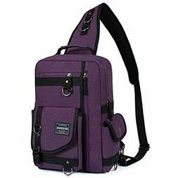 Leaper Messenger Bag Outdoor Cross Body Sling Shoulder Purpl