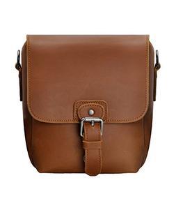 Small Leather Camera Bag ZLYC Vintage DSLR Bag Removable Sho
