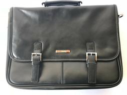 Alpine Swiss Leather Briefcase Laptop Case Messenger Bag - N