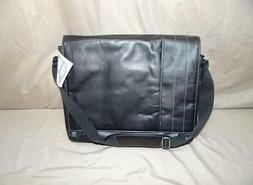 Kenneth Cole Reaction Leather Briefcase Messenger Bag Laptop