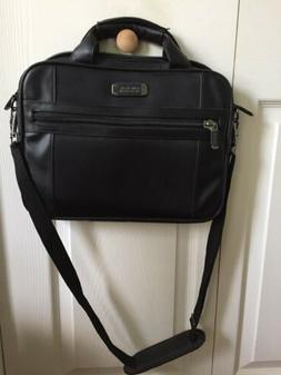 Kenneth Cole Reaction Leather Briefcase Messenger Bag Laptop