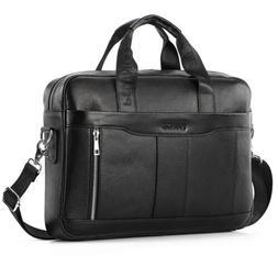 leather business messenger bag laptop briefcase handbag