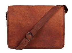 Leather Full Flap Genuine Men's Auth Real Leather Messenger