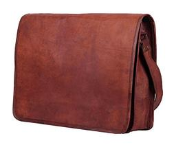 HTL Leather Full Flap Messenger Handmade Bag Laptop Bag Padd