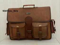 Leather Laptop Messenger Bag Fits Laptop's, Phones, Files