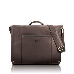 Solo Hudson 16 Inch Leather Laptop Messenger, Espresso