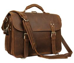 Polare Leather Messenger Bag Casual Designer Travel Briefcas