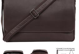 Banuce Leather Messenger Bag for Men Laptop Satchel Bags Cro