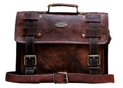 "Handmade_world Leather Messenger Bags 16"" for Men Women Mens"