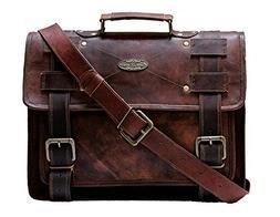 """Handmade_world Leather Messenger Bags 15"""" For Men Women Mens"""