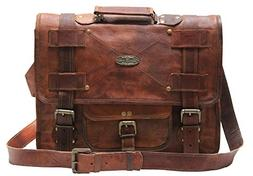 Handmade_world Leather Messenger Bags for Men Women Mens Bri