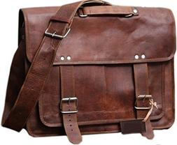 16 Inch leather messenger bags for men women men's briefcase