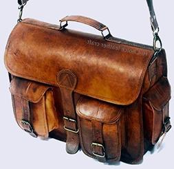 Leather Messenger Handmade Bag Laptop Bag Satchel Bag Padded