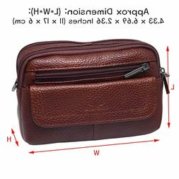 Leather Travel Small Messenger Bags Storage For Mobile And S