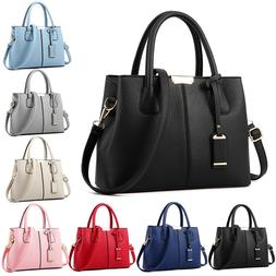 Leather Woman Tote Handbag Shoulder Cross Body Messenger Bag