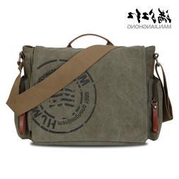 Manjianghong Leisure Canvas Men's <font><b>Briefcase</b></fo