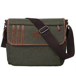 S-ZONE Lightweight Canvas Messenger Bag Travel Shoulder Bag