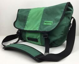 TIMBUK2 Medium Classic Messenger Bag Green Cordura Fabric La