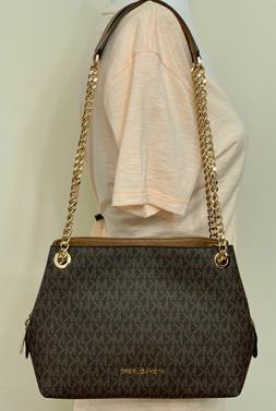 Michael Kors Medium Jet Set Chain PVC MK LOGO Messenger Bag