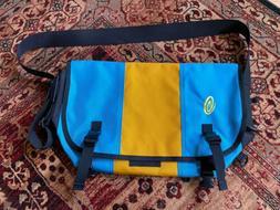 Timbuk2 Medium Messenger Bag- Vintage Sky Blue and Yellow- N