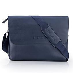 Bienna Men Bags Crossbody Shoulder Bag Blue Genuine Leather