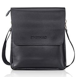 Bienna Men Bags Crossbody Shoulder Bag Black Genuine Leather