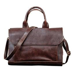 Berchirly Men Bags, PU Faux Leather Office Briefcase Handbag