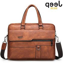 JEEP BULUO Men Briefcase <font><b>Bag</b></font> High Qualit