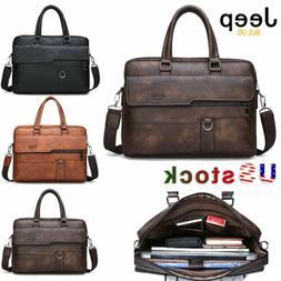 JEEP BULUO Men Briefcase Laptop Bag Shoulder bag Messenger B