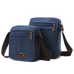 Men Vintage Canvas Casual Sling Shoulder Bag Travel Crossbod