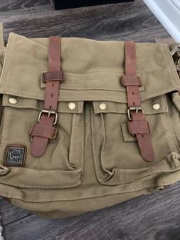 Men Canvas Shoulder Satchel Bag Travel Pack Crossbody Messen