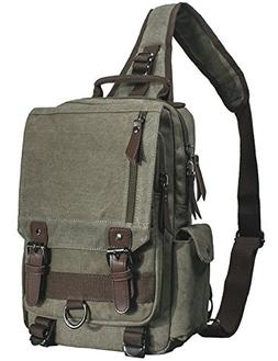 b0ab38ac6b4 Mygreen Men s Canvas Sling Bag Backpack Crossbody Travel Che