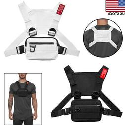 men chest rig vest outdoor harness bag
