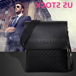 Men Crossbody Handbag Satchels Shoulder Bags Leather Messeng